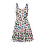POKEMON Woman's All-over Pokeball Printed Sleeveless Dress, Large, Grey
