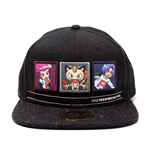POKEMON Team Rocket Snapback Baseball Cap, One Size, Black/Dark Grey