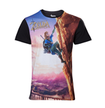 Zelda Breath of the Wild - All Over Link Climbing T-shirt