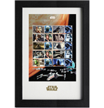 Star Wars Framed Stamps Collector 43 x 29 cm