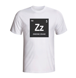 Zinedine Zidane Real Madrid Periodic Table T-shirt (white)