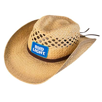 BUD LIGHT Straw Cowboy Hat