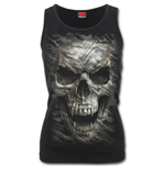 CAMO-SKULL - Razor Back Top Black