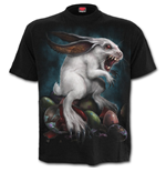 Rabbit Hole - Front Print T-Shirt Black