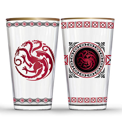 GAME OF THRONES Targaryen Pint Glass Set