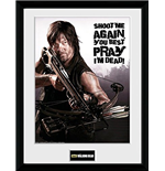 The Walking Dead Framed Picture - Daryl Shoot Me 30 x 40 cm