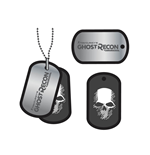 Ghost Recon Wildlands Dog Tags with ball chain Skull Logo
