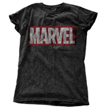 Marvel Comics Ladies Fashion Tee: Vintage Logo