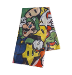 NINTENDO Super Mario Bros. Woman's All-over Characters Fashion Scarf, One Size, Multi-colour