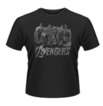 Marvel Avengers Age Of Ultron T-shirt Team Art