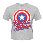Marvel Avengers Assemble T-shirt Captain America Colour Shield