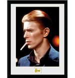 David Bowie Framed Print - Smoke - 30x40 cm