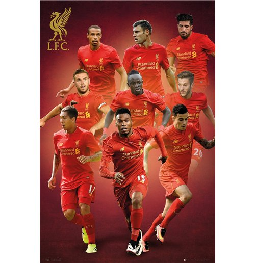 Liverpool FC Poster - Players 16/17 - 61x91,5 Cm