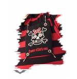 Black/red stripes with Girly Skull patch