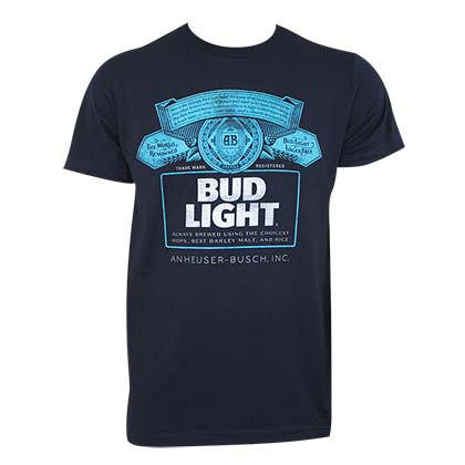 BUD LIGHT Navy Blue Tee Shirt