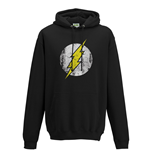 The Flash - Logo Black - Unisex Hooded Sweatshirt Black