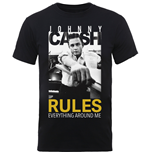 Johnny Cash Men's Tee: Rules Everything