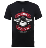 Johnny Cash Men's Tee: Winged Guitar