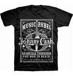 Johnny Cash Men's Tee: Music Rebel