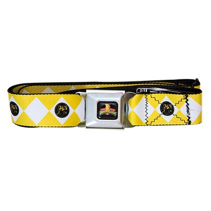 POWER RANGERS Yellow Seatbelt Buckle Belt