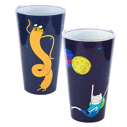 ADVENTURE TIME Outer Space Pint Glass