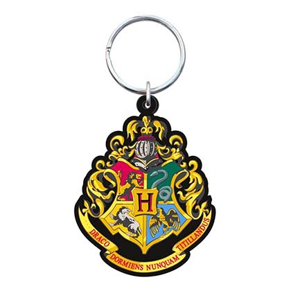 HARRY POTTER Hogwarts Rubber Keychain