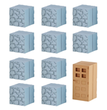 Minecraft Mine-Keshi Figures 2- 4 cm Block Set Cobblestone & Wooden Door