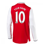 2016-17 Arsenal Long Sleeve Home Shirt (Your Name)