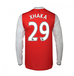 2016-17 Arsenal Long Sleeve Home Shirt (Xhaka 29)