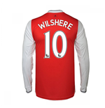 2016-17 Arsenal Long Sleeve Home Shirt (Wilshere 10)