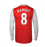 2016-17 Arsenal Long Sleeve Home Shirt (Ramsey 8)