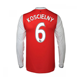 2016-17 Arsenal Long Sleeve Home Shirt (Koscielny 6)