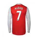 2016-17 Arsenal Long Sleeve Home Shirt (Alexis 7)