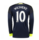 2016-17 Arsenal Long Sleeve 3rd Shirt (Wilshere 10)