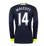 2016-17 Arsenal Long Sleeve 3rd Shirt (Walcott 14)