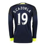 2016-17 Arsenal Long Sleeve 3rd Shirt (S.Cazorla 19)