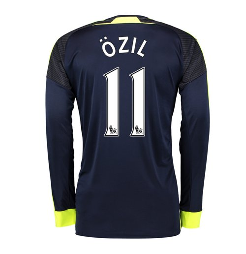 separation shoes a5c17 cee8a 2016-17 Arsenal Long Sleeve 3rd Shirt (Ozil 11)