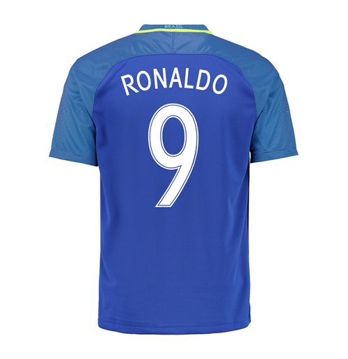 Official 2016-17 Brazil Away Shirt (Ronaldo 9)  Buy Online on Offer afec55935