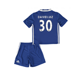 2016-17 Chelsea Home Mini Kit (David Luiz 30)