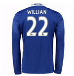 2016-17 Chelsea Home Long Sleeve Shirt (Willian 22) - Kids