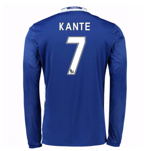 buy online c3bc9 ac594 2016-17 Chelsea Home Long Sleeve Shirt (Kante 7) - Kids