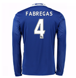 2016-17 Chelsea Home Long Sleeve Shirt (Fabregas 4) - Kids