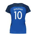 2016-17 France Womans Home Shirt (Benzema 10)