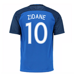 2016-17 France Home Shirt (Zidane 10)