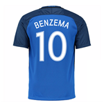 2016-17 France Home Shirt (Benzema 10)