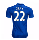 2016-17 Leicester City Home Shirt (Gray 22)