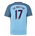 2016-17 Man City Home Shirt (De Bruyne 17)