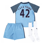 2016-17 Man City Home Mini Kit (Yaya Toure 42)