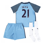 2016-17 Man City Home Mini Kit (Silva 21)