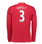 2016-17 Man United Home Long Sleeve Shirt (Bailly 3) - Kids